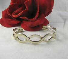 Sterling Silver Open Design Braided  Cuff Bracelet  FERAL CAT RESCUE