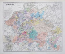 1875 MAP Deutschland Germany Reformation 1492 to 1618  Spruner