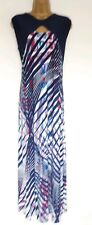 STUNNING MAXI DRESS SZ L IN EXCELLENT CONDITION! BLUE,RED,STRIPE