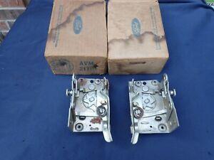 1956 Ford, Mercury door lock assemblies, pair RH LH, NOS! latch, B6A-7021812 /3