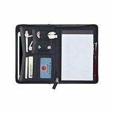 Padfolio Portfolio Mini Leather Zippered Binder With Full Size Note Pad 5 X 8