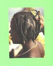 K POSTCARD AFRIQUE EN COULEURS COIFURE AFRICAINE BALACK WOMAN AFRICAN HAIR DRESS