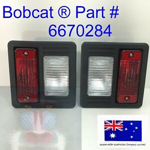 Rear Tail Light Set Pair for Bobcat 553 751 753 763 773 775 853 863 864 873 883