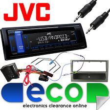 VAUXHALL Corsa C 04-06 JVC Radio Stereo Auto Kit Di Aggiornamento MP3 USB AUX GUN METAL