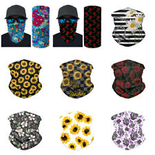 Floral Bandana for Women Winter Sports Windproof Face Scarf Neck Gaiters Beanie