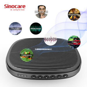 Sinocare White Noise Machine Therapy Sound Sleep Soothing Relax 20 Nature Sounds