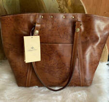 New~Patricia Nash Benvenuto Leather Signature Map Tote Handbag Purse