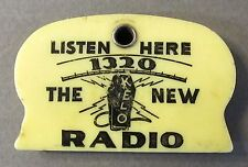 vintage KELO 1320 RADIO Sioux Falls SD scraper keychain coin holder *