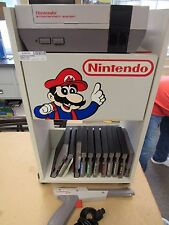 VINTAGE NINTENDO ENTERTAINMENT SYSTEM W/ STAND AND GUN, 11 GAMES  (10020-CLOSET-