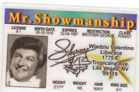 Liberace novelty collectors card Drivers License
