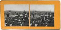 Firenze Panorama Da San Spirito Italia Foto P39L9n30 Stereo Stereoview Vintage
