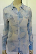 David Lawrence Long Sleeve Button Down Shirt Tops & Blouses for Women