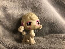 Littlest Pet Shop Dog Poodle White w/Pink Star Brown Flower Eyes #551