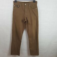 Boss Hugo Boss Alabama Mens Chino Jeans Brown W33 L32 Cotton Relaxed Fit Italian