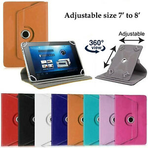 "360 Rotation Lenovo Tablet Tab M7 7"" M8 8"" leather cover case stand wallet"