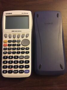 Casio FX-9750GII Graphing Calculator - White Front, Grey Casing - TESTED/WORKING
