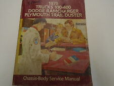 1979 Dodge RAMCHARGER Truck 100 400 Trail Duster Service Shop Repair Manual OEM