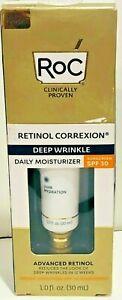 RoC Retinol SPF30 Correxion Deep Wrinkle Daily Moisturizer 1 oz expiration 2023