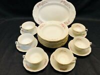 Vintage Walbrzch Minuet Made in Poland 21 PC China Set Cir 1950' MINT Condition