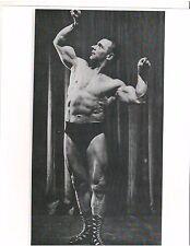 bodybuilder Sigmund Klein mid 50's years old Bodybuilding Muscle Photo B+W