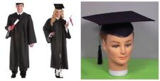 Adult Graduation Robe and Hat Gown Judge Barrister Professor Scholar Costume