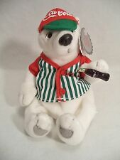 Plush Coca Cola Polar Bear Baseball Jersey Coke Bean Bag Style 261 1999 Sports