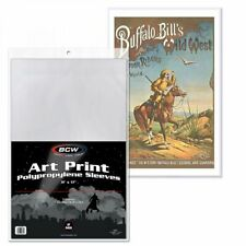 200 BCW 11x17 Art Print Bags Sleeves - Acid Free - 2 Mil Poly Soft Photo Bag