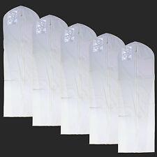 """New 5 PCS LONG Garment Bag for dress, coat, 72 """" White"""
