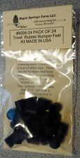 """Trivet Rubber Replacement Feet Bumpers 1/4"""" ID 7/16"""" OD Pack of 24 MADE IN USA"""