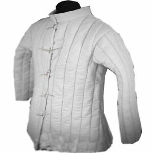 Medieval-Gambeson-thick-padded-coat-Aketon-vest-Jacket-Armor-COSTUMES-DRESS-SCA