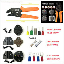 Car Crimping Tool Terminal Crimper Plier Cable Wire Cutting + SN-48B SN-02C Jaw