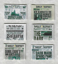 SIX HAND-MADE DOLLS' HOUSE 1/12TH SCALE HARRY POTTER NEWSPAPERS (SET 2)