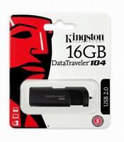 16GB USB Memory Flash Drive Kingston DataTraveler DT104/16GB Memory stick