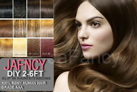"15"" DIY Weft Clip in Remy Human Hair Extensions All Colours"