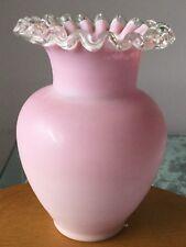 Victorian Pink Opaline Glass Vase.