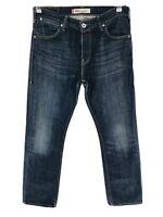 Vintage Levi's 506 Bleu Foncé Standard Jeans Coupe Droite Taille W33 L34