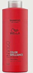 Wella Professionals Brilliance INVIGO Shampoo Fine Normal Hair 1000ml