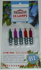 B1 PUSH IN LV 2.4VOLT 150mA GENUINE NOMA SPARE XMAS TREE LIGHT LAMP BULB VINTAGE