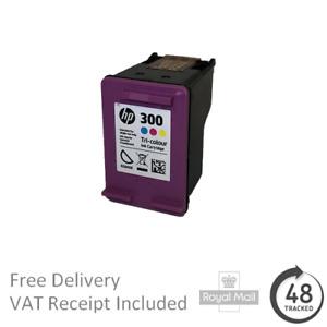 Original HP 300 Tri-Colour Ink Cartridge CC643E