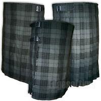 SCOTTISH HIGHLAND GREY WATCH TARTAN KILT TRADITIONAL HIGHLAND DRESS 30-48 INCH