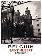 TRAVEL TOURISM BELGIUM SAINT HUBERT BASILICA CHURCH IRON GATE ART PRINT CC2021
