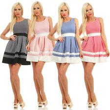11145 Damen Mini Kleid Sommerkleid Etuikleid Cocktailkleid Glockenrock Minikleid
