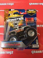 El Toro Loco 3/7 Chrome 2017 Hot Wheels Monster Jam Case D
