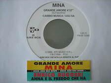 """MINA """"Grande amore"""" ENRICO RUGGERI """"Anna e il freddo che fa"""" 45 PROMO JB+STICK"""
