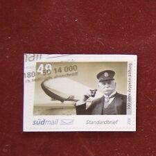 "südmail 2008 ""100 Jahre Zeppelin-Stiftung"" 49 Cent  gestempelt linke Marke"