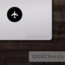 Airplane - Mac Apple Logo Laptop Vinyl Decal Sticker Macbook Pilot Aviator