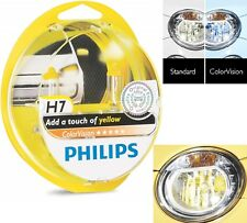 Philips ColorVision H7 55W Yellow Two Bulbs Head Light High Beam Reflector Stock