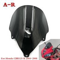 NEW Black Windscreen ABS Windshield Fairing Screen For Honda CBR125 R 2004-2008