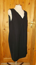 PIED A TERRE black sleeveless short above knee length LBD dress v neck 12 40