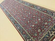 """2'.6"""" X 9'.10"""" Red Navy Blue Farahan Persian Oriental Rug Runner Hand Knotted"""